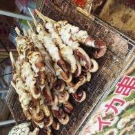 Brochettes de poulpe