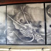 Kyoto, temple Kennin-ji, oeuvre de Kaiho Yusho